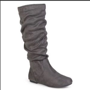 Journee Collection Gray Knee-High Slouch Boots